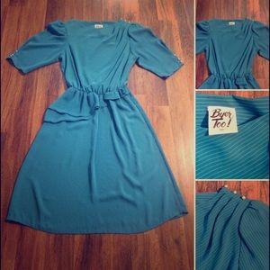 New Listing! Vintage 80s Pin Stripe Dress